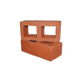 9 In. x 4 In. x 3 In. Exposed Perforated Clay Wire Cut Bricks