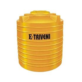 750 Litres E - Triveni Yellow Triple Layer Water Tank