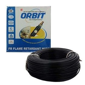 6.0 Sq. mm - Black Color 90m -Orbit FRLS Wire Cables