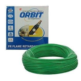 6.0 Sq. mm - Green Color 90m -Orbit Flame Retardant Wire Cables