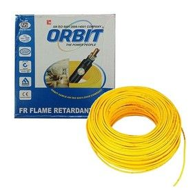 6.0 Sq. mm - Yellow Color 90m -Orbit Flame Retardant Wire Cables