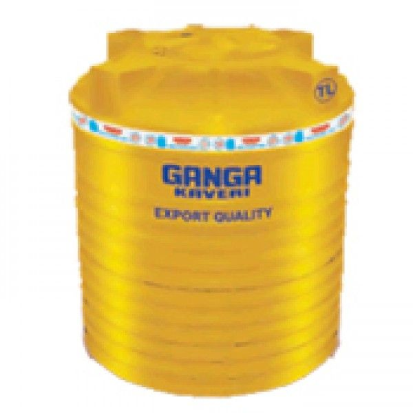 Ganga Kaveri Water Tanks 1000 Ltr Yellow Triple Layer Water Tank