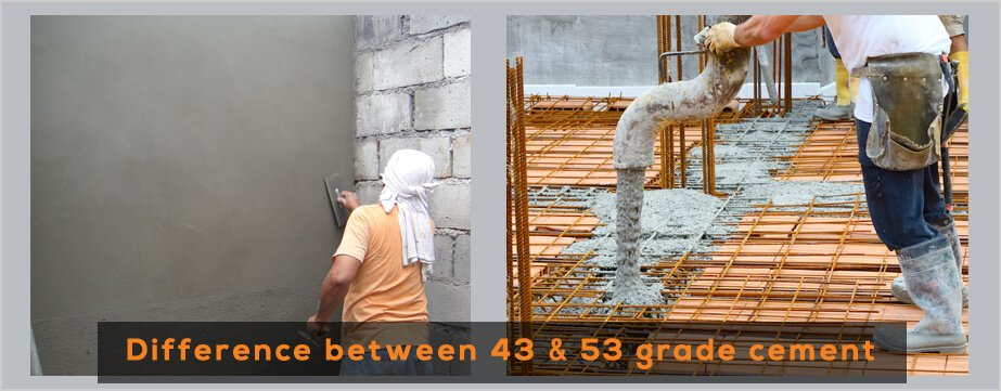 Difference between 43 Grade Cement and 53 Grade Cement