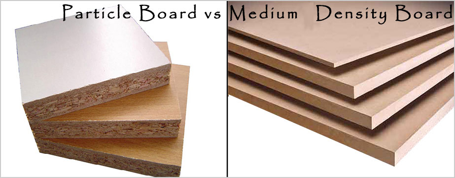 Particle board and Medium-Density Fiber board (MDF) are formed by breaking down real wood residuals into wood fibers and glued back together with special resin by applying high temperature and pressure